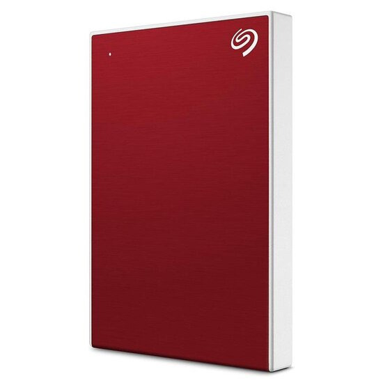 Seagate Backup Plus Slim Portable Hard Drive - 2 TB, Red