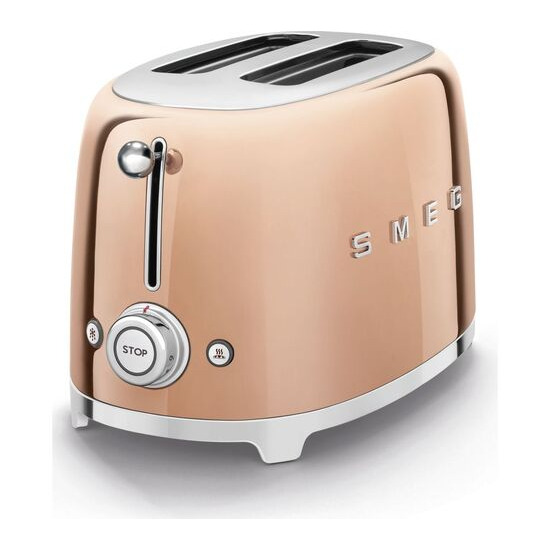SMEG TSF01RGUK 2-Slice Toaster Special Edition - Rose Gold