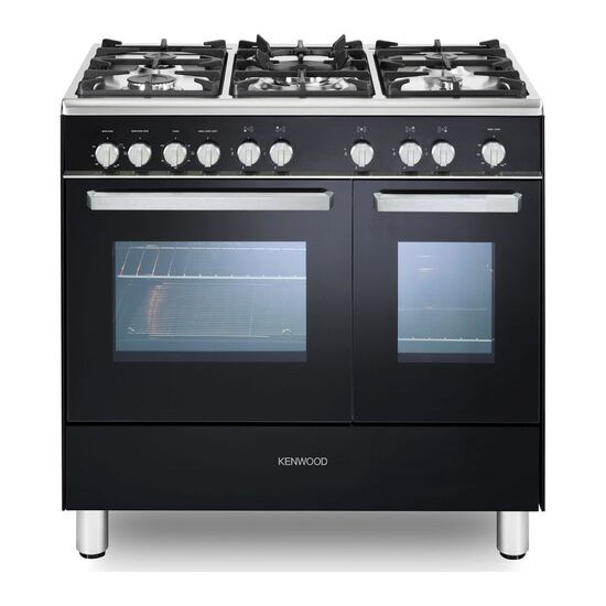 Kenwood CK407G 90 cm Gas Range Cooker - Black & Chrome