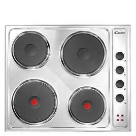 CANDY CLE64X Electric Solid Plate Hob - Stainless Steel Reviews