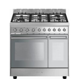 SMEG C92DX9 90 cm Dual Fuel Range Cooker - Stainless Steel Reviews