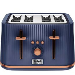 TEFAL Loft TT760440 4-Slice Toaster - Blue & Rose Gold Reviews