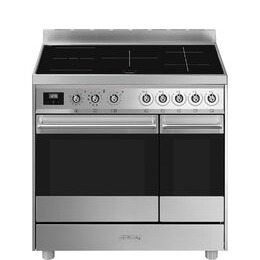 SMEG C92IPX9 90 cm Electric Induction Range Cooker - Stainless Steel Reviews