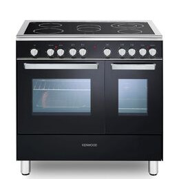 Kenwood CK418 90 cm Electric Ceramic Range Cooker - Black & Chrome Reviews