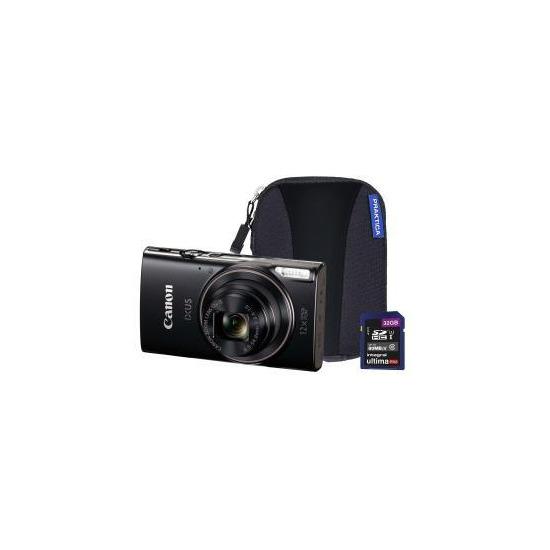 Canon IXUS 285 HS Compact Camera with 32 GB SD Card & Case - Black