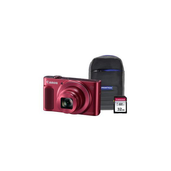 Canon PowerShot SX620 HS Superzoom Compact Camera with 32 GB SDHC Class 10 Card & Case - Red