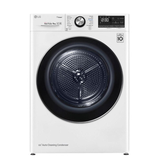 LG FDV909W WiFi-enabled 9 kg Heat Pump Tumble Dryer - White