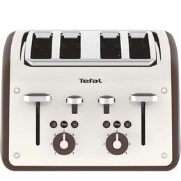 Tefal Retra TF700A40 4-Slice Toaster - Cream & Mokka Reviews