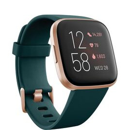 FITBIT Versa 2 with Amazon Alexa - Emerald & Copper Rose Reviews