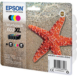 Epson 603 XL Starfish Cyan, Magenta, Yellow & Black Ink Cartridges - Multipack Reviews