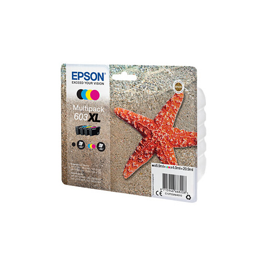 Epson 603 XL Starfish Cyan, Magenta, Yellow & Black Ink Cartridges - Multipack