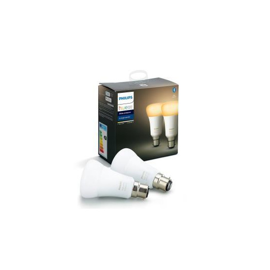 Philips Hue White Ambience Bluetooth LED Bulb - Twin Pack, B22