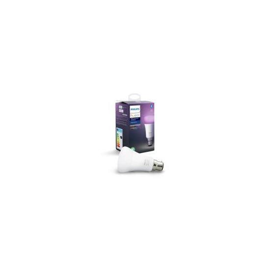 Philips Hue White & Colour Ambiance Bluetooth LED Bulb - B22