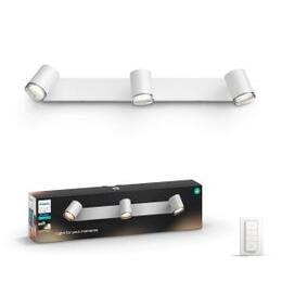 Philips Hue White Ambiance Adore LED Triple Bathroom Spotlight - White