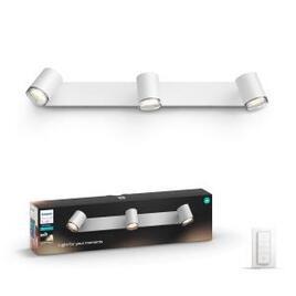 Philips Hue White Ambiance Adore LED Triple Bathroom Spotlight - White
