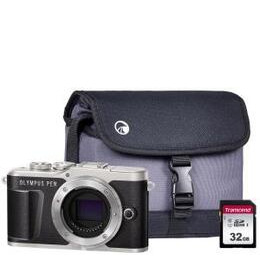 Olympus PEN E-PL9 Mirrorless Camera with 32 GB SD Card - Black, Body Only