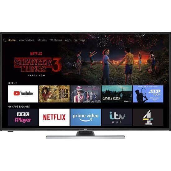 JVC LT-40CF890 Fire TV Edition 40 Smart 4K Ultra HD HDR LED TV with Amazon Alexa