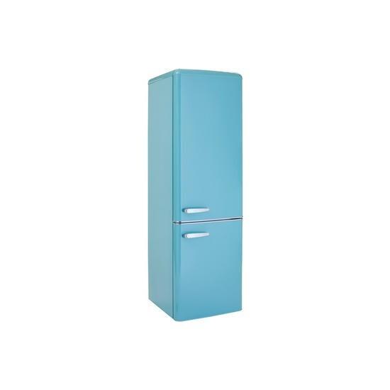 electriQ 60/40 Retro Freestanding Fridge Freezer in Blue