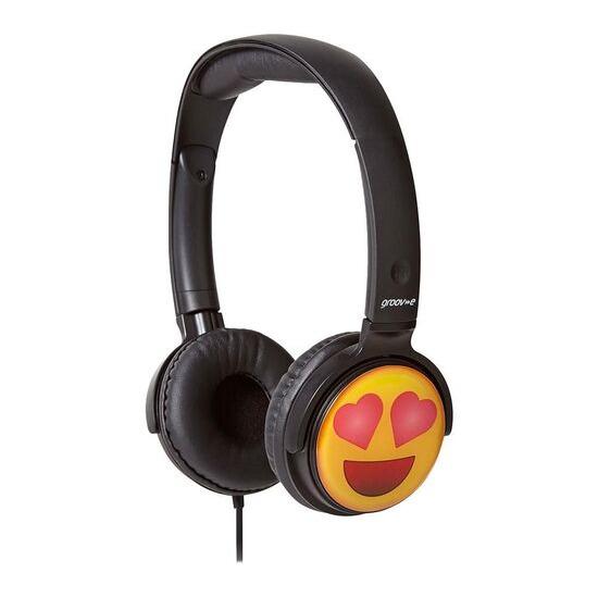 Groov-e GV-EMJ13 EarMOJI's Heart Eyes Face Kids Headphones - Black
