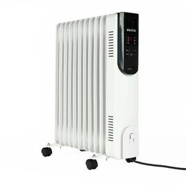 electriQ 2.5kw Smart WiFi Alexa Oil Filled Radiator 11 Fin  24 hour and Weekly Timer with Thermostat and Remote - White Reviews