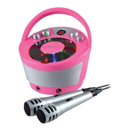 Groov-e GV-PS923-PK Portable Bluetooth Karaoke Boombox - Pink