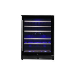 electriQ 60cm Slim Steel Door Frame Full Temperature Range Wine Cooler