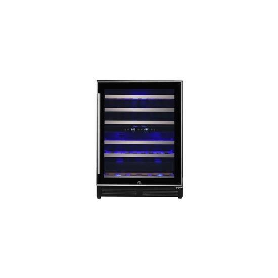 electriQ 60cm Slim Steel Door Frame Full Temperature Range Wine Cooler