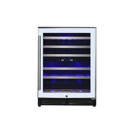 electriQ 60cm Slim Stainless Steel Door Full Temperature Range Wine Cooler in White