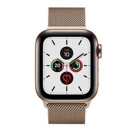 Apple Watch Series 5 GPS + Cellular 40mm Gold Stainless Steel Case with Gold Milanese Loop