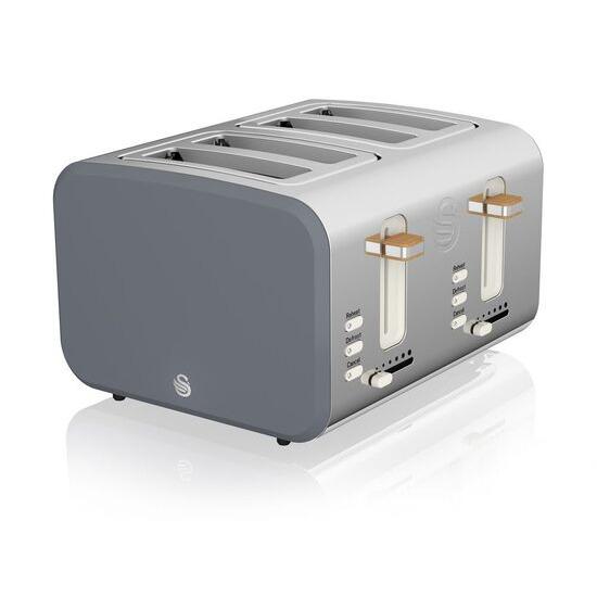 Swan Nordic ST14620GRYN 4-Slice Toaster - Grey