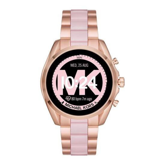 Michael Kors Access Bradshaw 2 MKT5090 Smartwatch - 44 mm, Rose Gold & Acetate