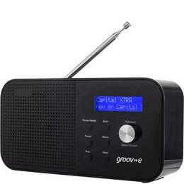 Groov-e Venice GVDR04BK Portable Radio - Black