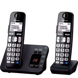 PANASONIC KX-TGE722EB Cordless Phone - Twin Handsets Reviews