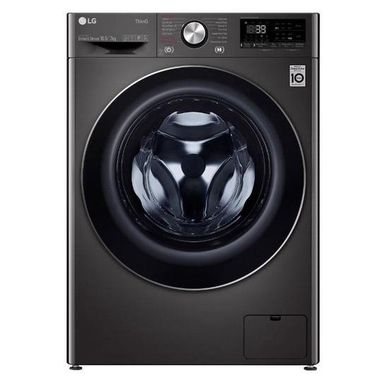 LG V9 FWV917BTSE TurboWash 360 with AI WiFi-enabled 10.5 kg Washer Dryer - Black Steel