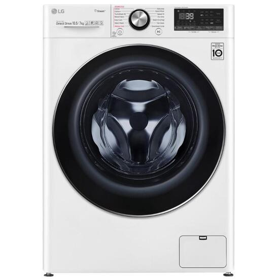 LG FWV917WTS TurboWash 360 with AI WiFi-enabled 10.5 kg Washer Dryer - White