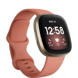 FITBIT Versa 3 - Pink Clay & Soft Gold Reviews