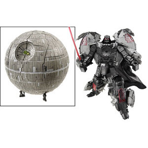 Photo of Star Wars Transformers Deluxe Darth Vader Death Star Toy