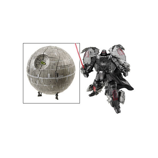 Star Wars Transformers Deluxe Darth Vader Death Star