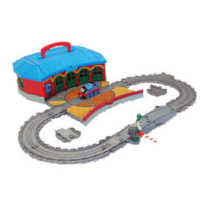 Photo of Take Along Thomas & Friends - Work & Play Engine Shed Playset Toy