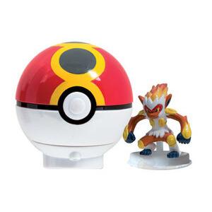Photo of Pokemon Diamond & Pearl - Spinning Figure & Pokeball Launcher - Infernape Toy