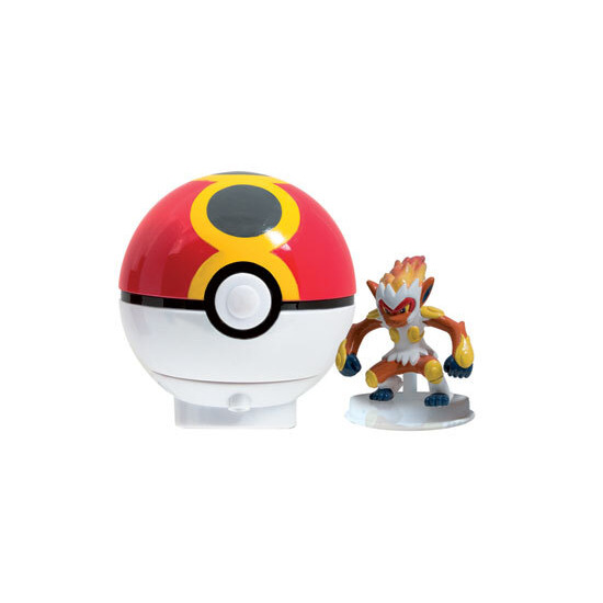 Pokemon Diamond & Pearl - Spinning Figure & Pokeball Launcher - Infernape