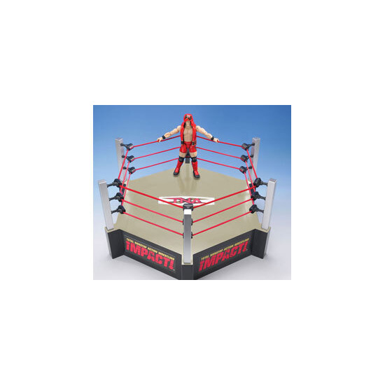 TNA Impact - 6-Sided Wrestling Ring With Exclusive AJ Styles Figure