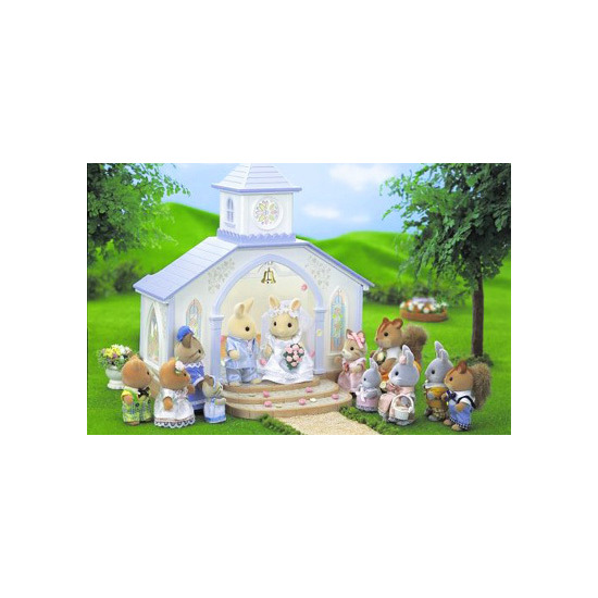 Sylvanian Families - Wedding Chapel with Bride & Groom