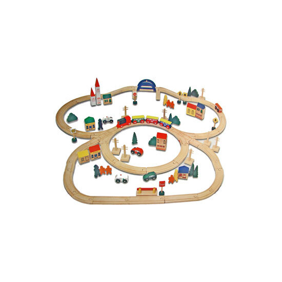 Electronic Wooden Train Set