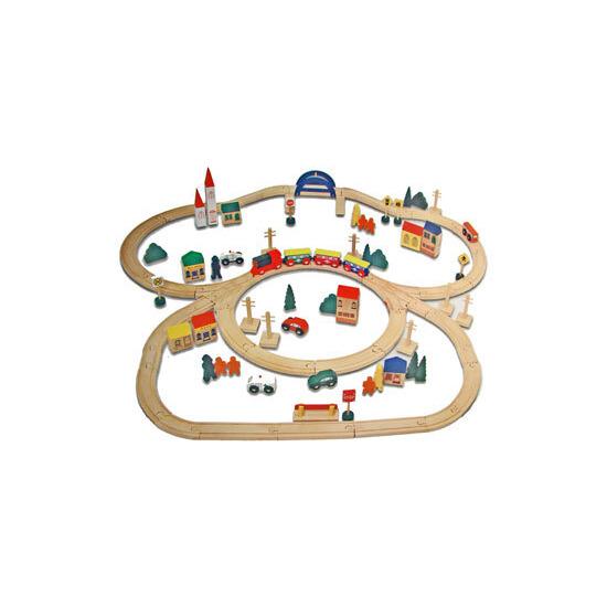 Electronic Wooden Train Set