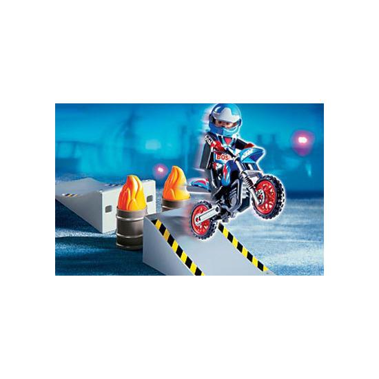 Playmobil - Motorcross Rider and Ramp 4416