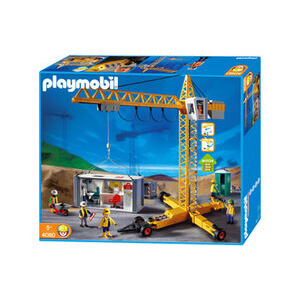Photo of Playmobil - Crane & Container Construction Office 4080 Toy