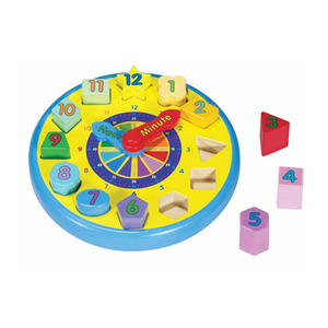 Photo of Melissa and Doug - Wooden Shape Sorting Clock Toy
