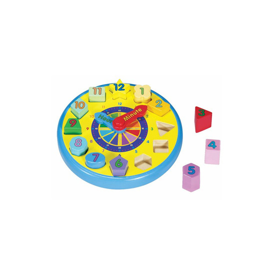 Melissa and Doug - Wooden Shape Sorting Clock
