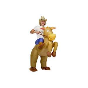 Photo of Airblown Inflatable Cowboy and Horse Costume Accessory